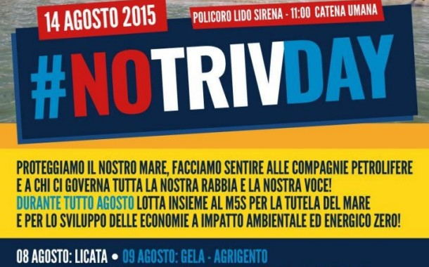 Difendiamo il Mediterraneo dalle trivelle (M5S) – Policoro 14 agosto 2015 ore 11,00, Lido Sirena
