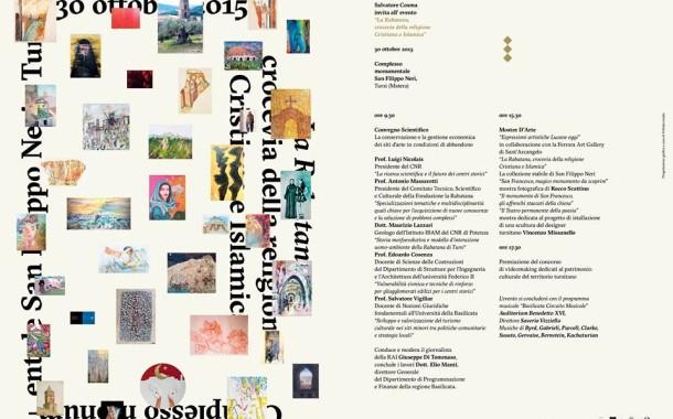 Iniziative per il rilancio culturale di Tursi, venerdì 30 ottobre