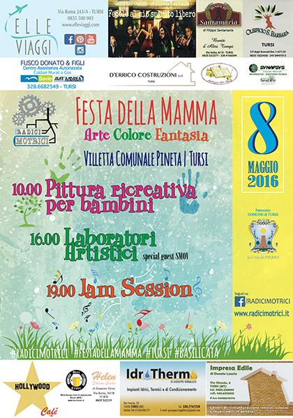 FESTA DELLA MAMMA, manifesto dell'8 maggio di RADICI MOTRICI