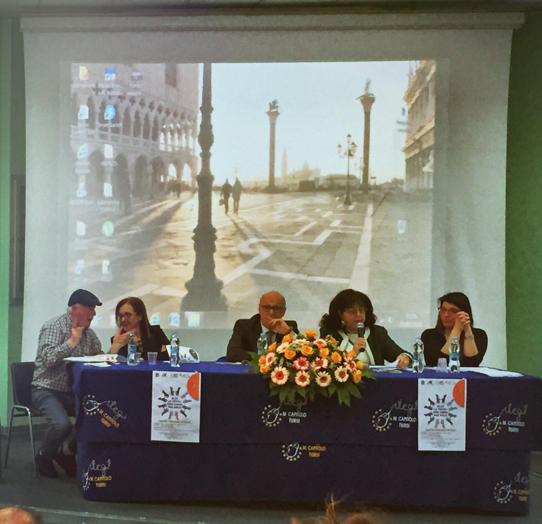 """I relatori del convegno nell'Istituto """"Capitolo"""" di Tursi"""