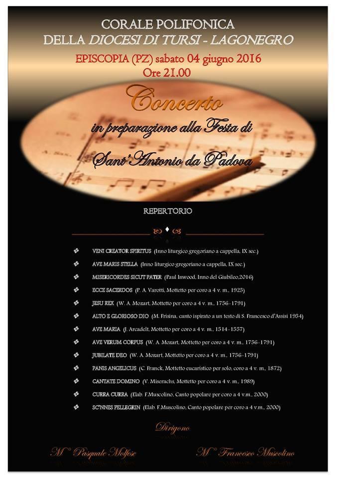 Programma del Concerto a Episcopia