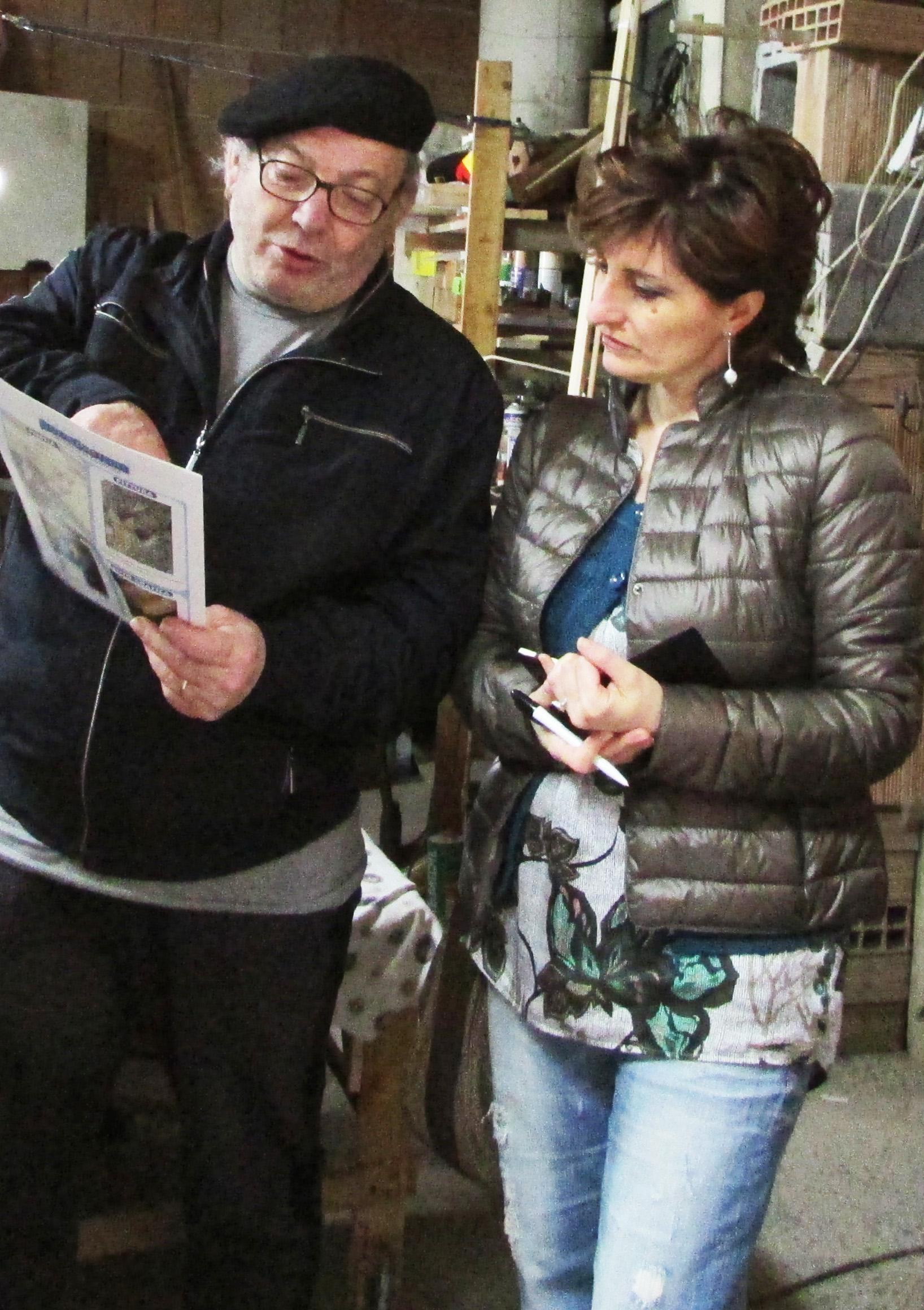 D'Acunzo con Grazia Pastore, critico d'arte
