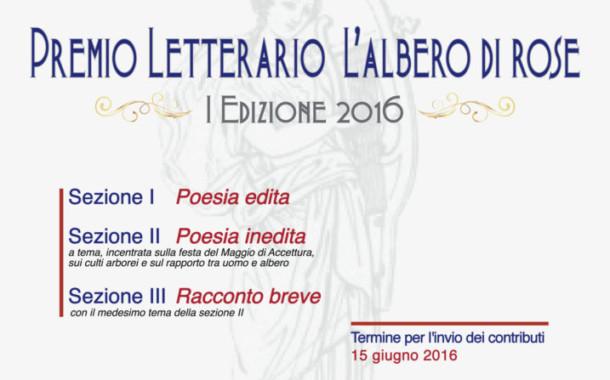 """I edizione del premio letterario """"L'Albero di Rose"""" dedicato al Maggio di Accettura"""