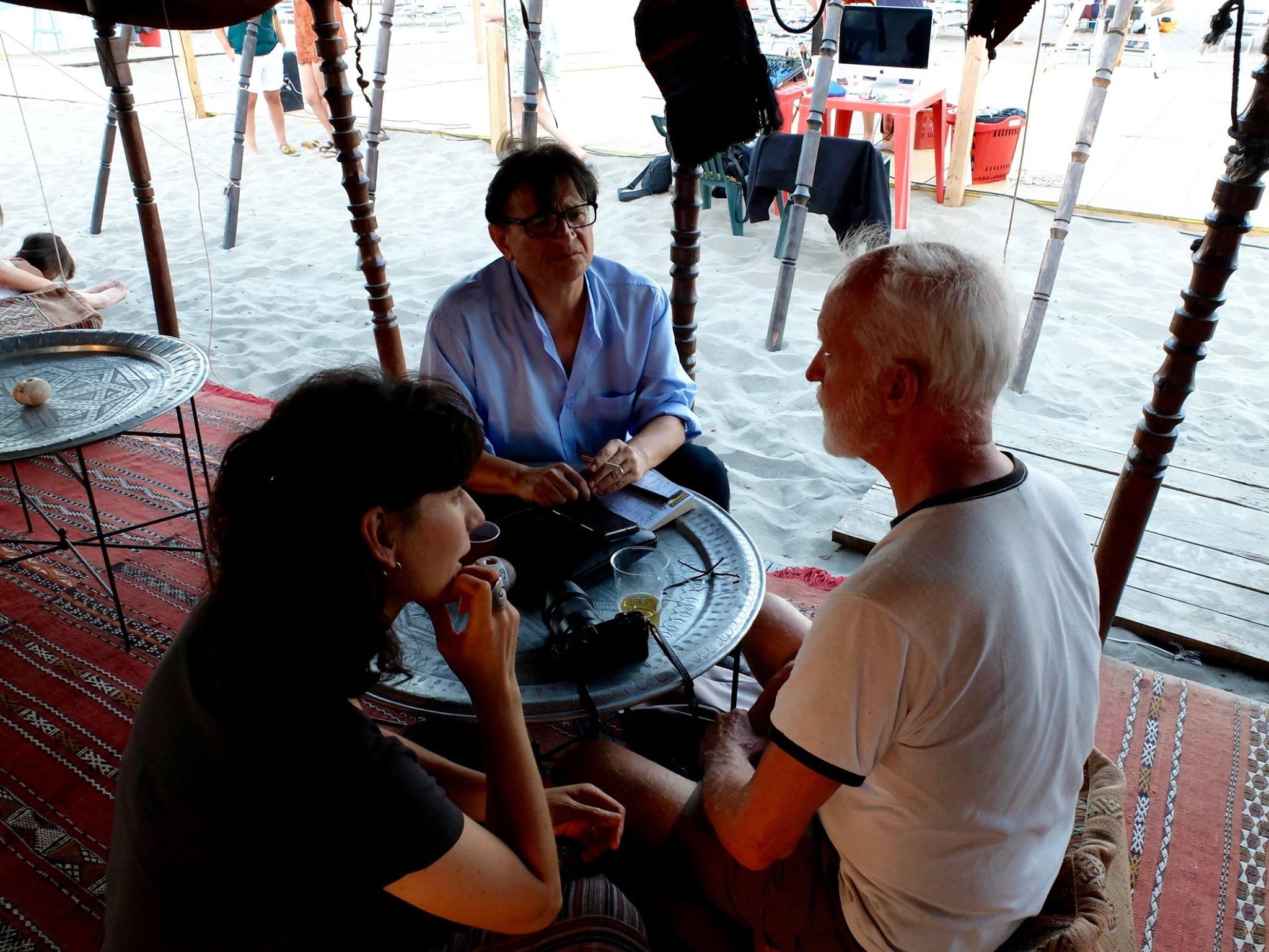 durante l'intervista a jon jost - foto di giuseppe tumino