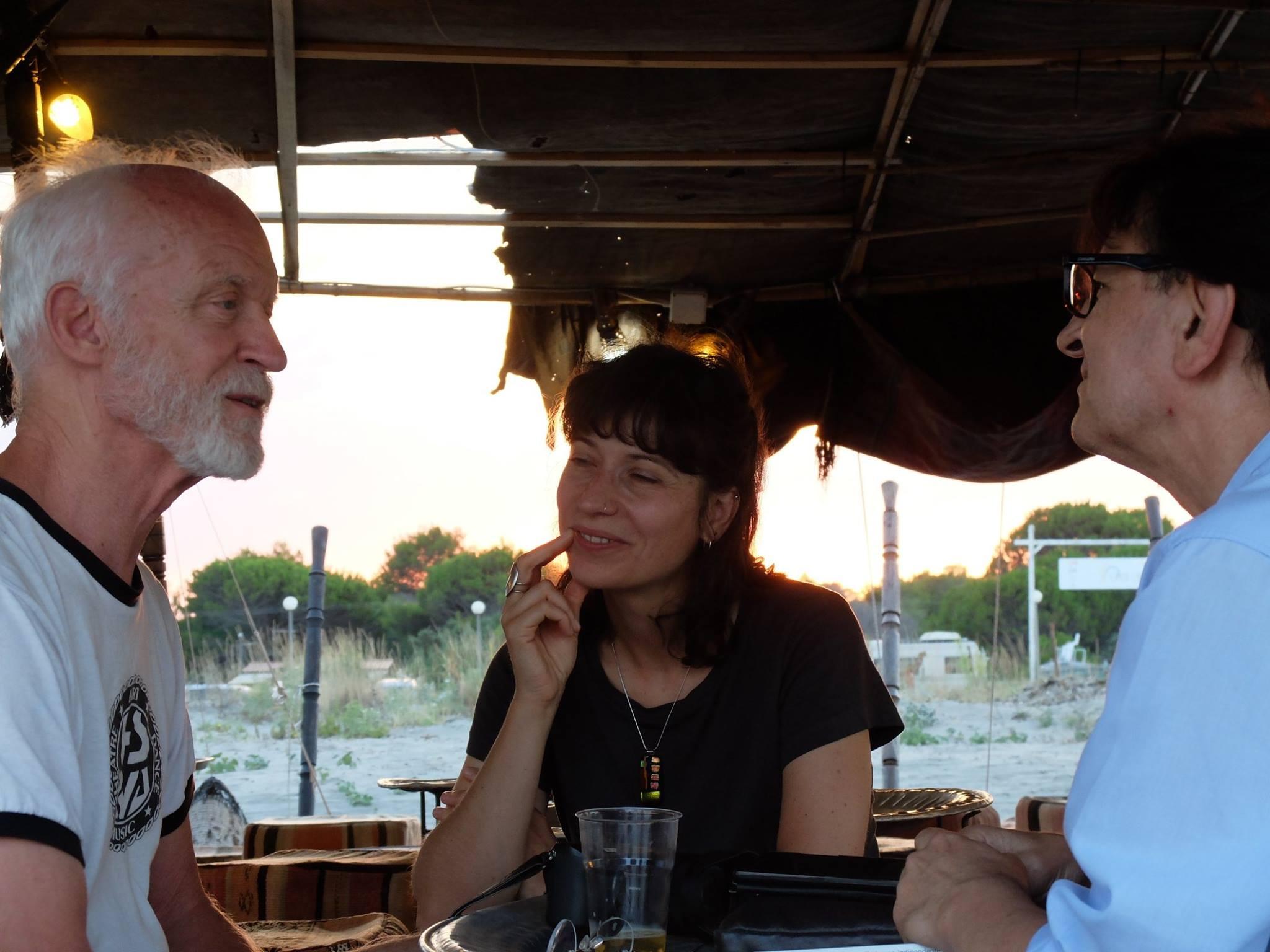 durante l'intervista a jon jost - foto di Giuseppe tumino (2)
