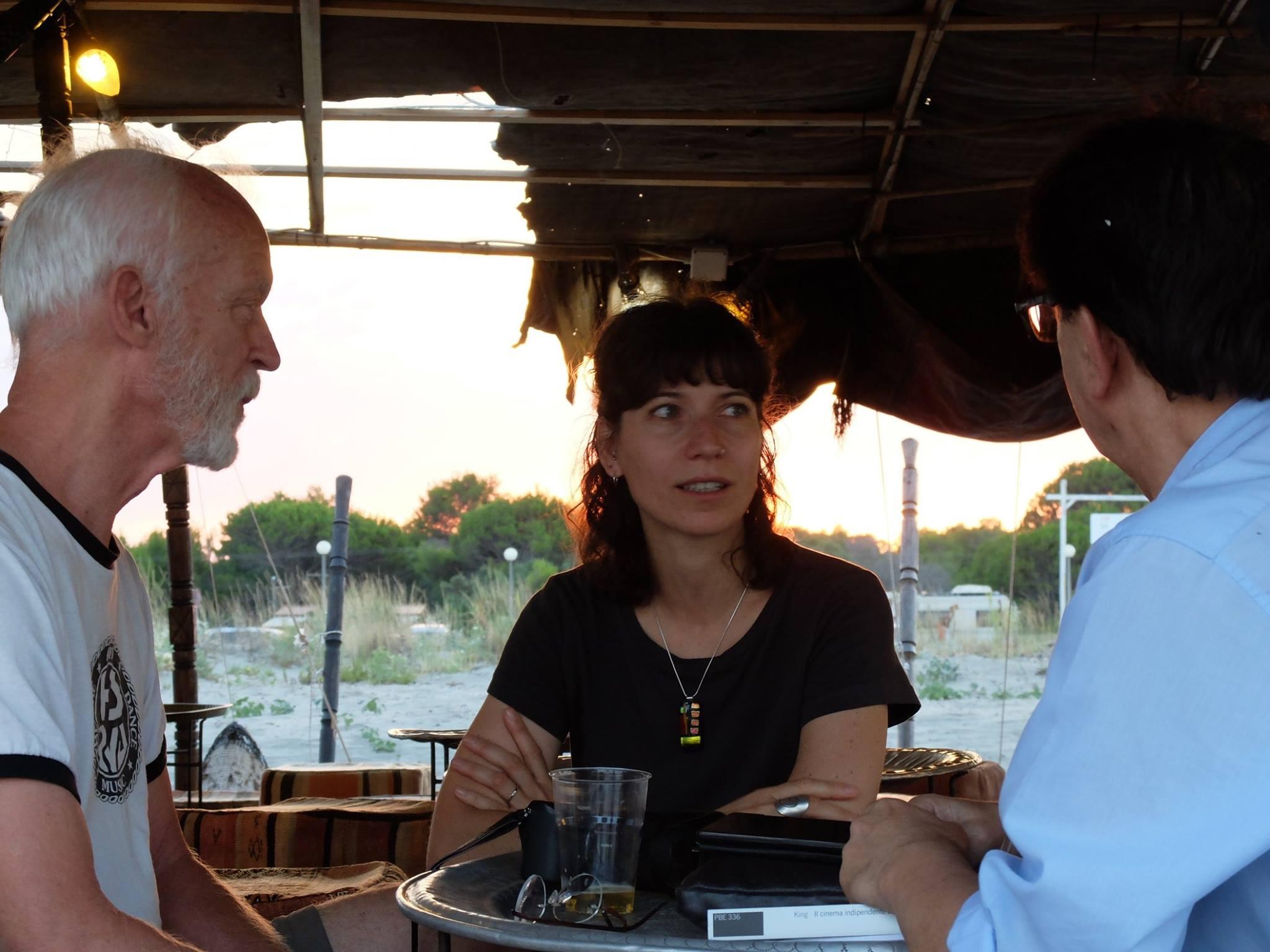 durante l'intervista a jon jost - foto di Giuseppe tumino (3)