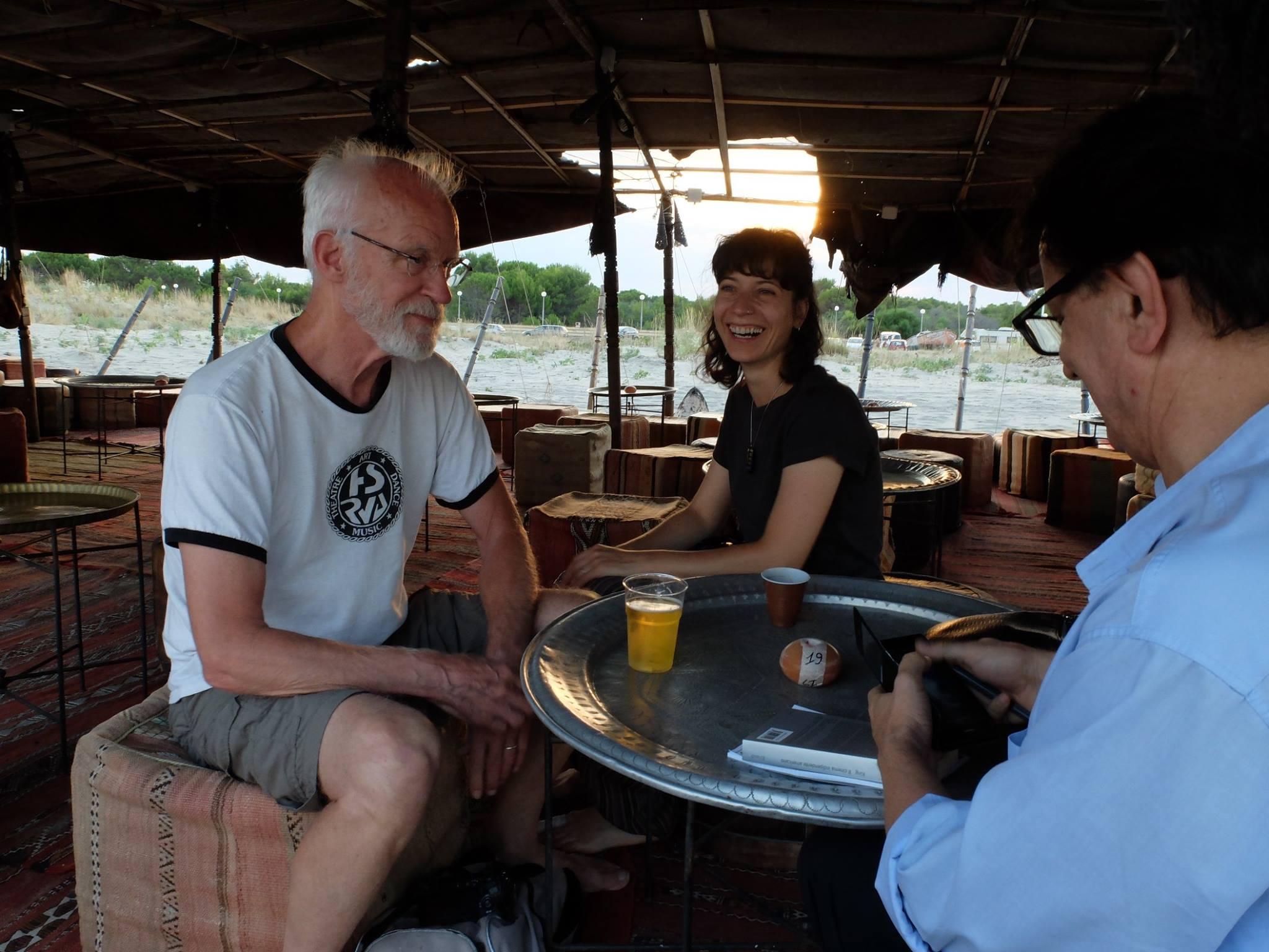 durante l'intervista a jon jost - foto di Giuseppe tumino (4)