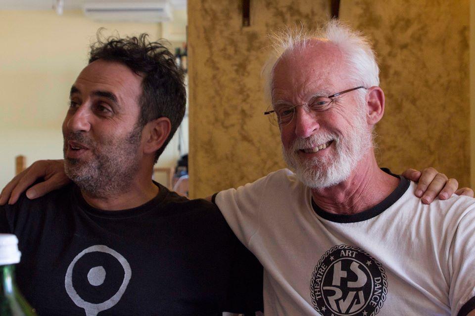 Giuseppe Tumino con Jon Jost, grande regista Usa del cinema indipendente