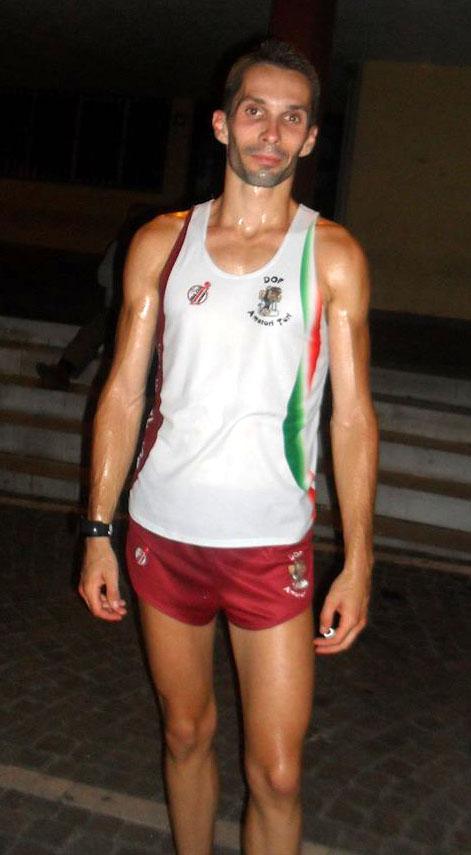 Gianpiero Bianco, vincitore del XXV Giro podistico tursitano
