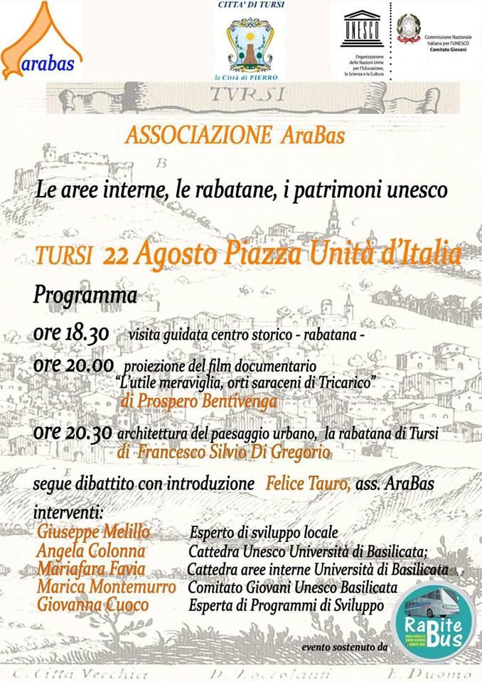Locandina evento Arabas