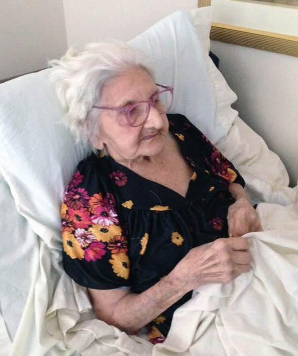 Angelina Gentile, 95 anni festeggiati ieri, 25 agosto 2016.