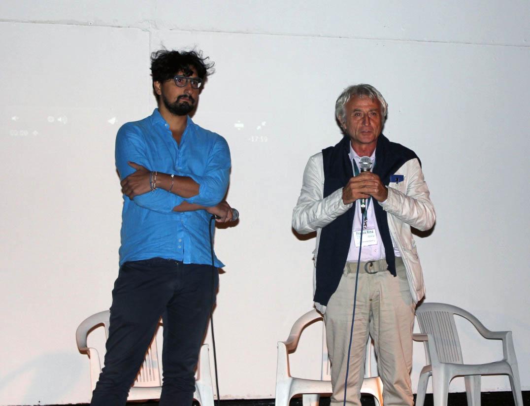 il filmmaker lucano Nicolo Montesano e il direttore del festival Franco Rina