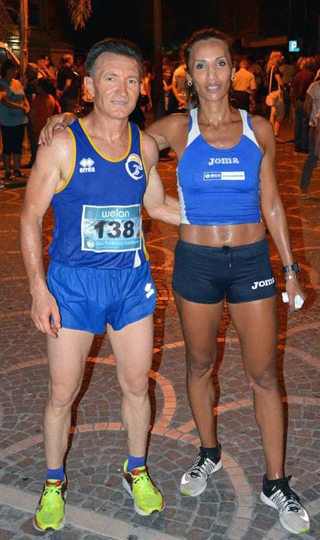 Giuseppe Francolino con la campionessa Libana Soumiya