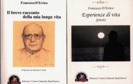 Francesco D'Errico presenta i suoi due libri tra autobiografia e versi, sabato 3 settembre, ore 19,30, sala convegni della parrocchia Cattedrale
