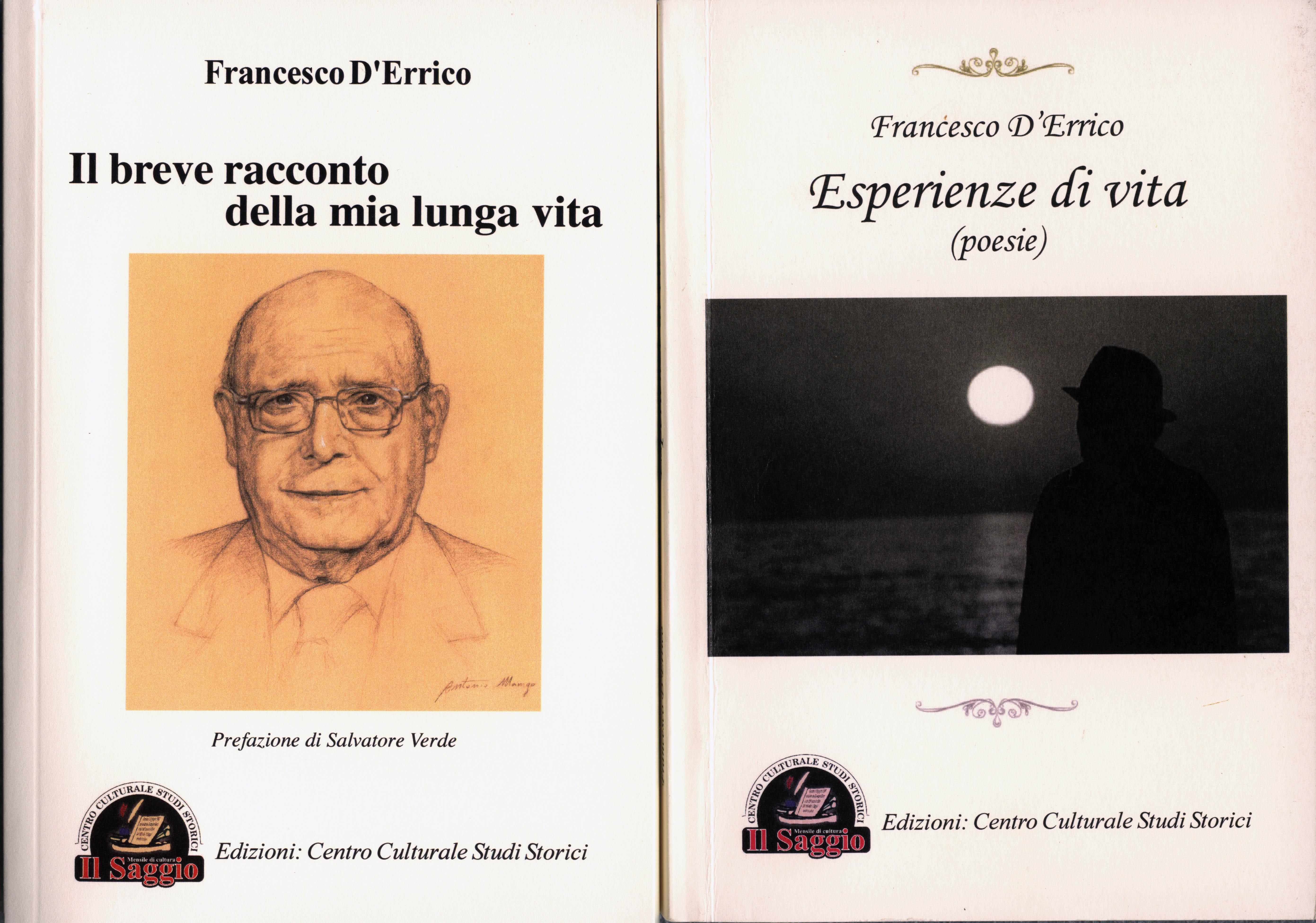 Copertine dei due libri di Francesco D'Errico