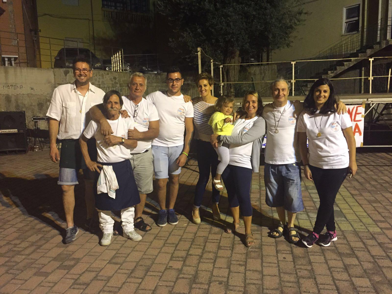 Gli organizzatori della festa a Valsinni