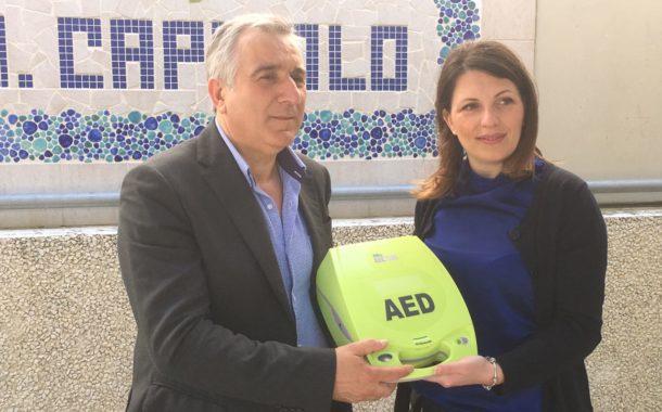 """""""Un regalo di cuore"""". Consegnato un defibrillatore all'Itset """"Capitolo"""" di Tursi"""