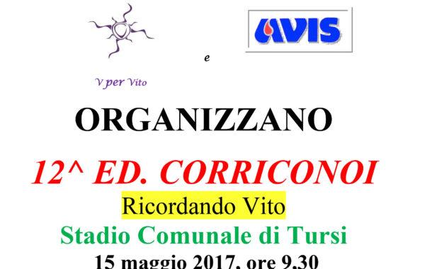 """15 Maggio, dodicesima edizione di  """"Corriconoi-Ricordando Vito"""", la manifestazione podistica per ragazze/i dai 6 ai 14 anni delle scuole del comprensorio"""