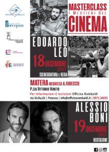 """A Matera """"I mestieri del cinema"""": masterclass in sceneggiatura, regia e recitazione"""