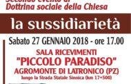 """Secondo appuntamento di Dottrina sociale della Chiesa, con l'onorevole Maurizio Lupi. Sabato 27 gennaio, nella sala ricevimenti """"Piccolo Paradiso"""" in Agromonte di Latronico (PZ)"""