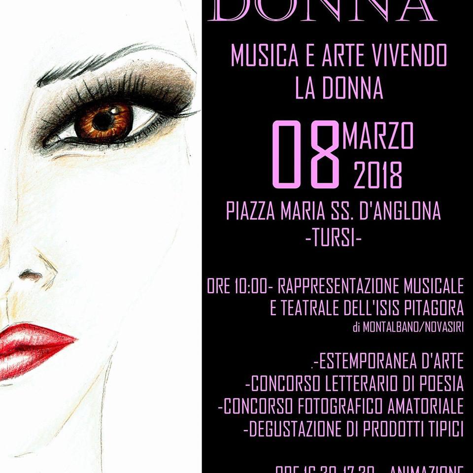 """""""Evento 8 Marzo 2018: Essere Essendo Donna"""" a Tursi, una giornata con giovani e famiglie, tra arte, musica, danza, animazione teatrale e gastronomia"""