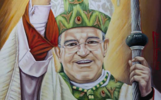 L'artista Vincenzo D'Acunzo ha donato il ritratto di mons. Vincenzo Orofino, vescovo della Diocesi di Tursi-Lagonegro,alla cattedrale diocesana dell'Annunziata