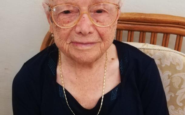 Gaetana Salerno, tursitana, festeggia 100 anni oggi, attiva e in buona salute