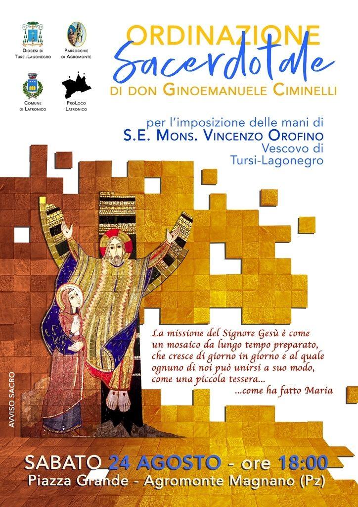 Ordinazione sacerdotale di don Ginoemanuele Ciminelli ad Agromonte Magnano di Latronico (PZ)