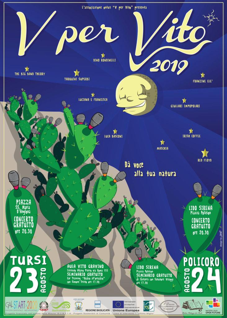 """""""V per Vito 2019 dà voce alla tua natura"""", appuntamenti musicali a Tursi e Policoro, con due concerti e seminari gratuiti il 23 e 24 agosto"""