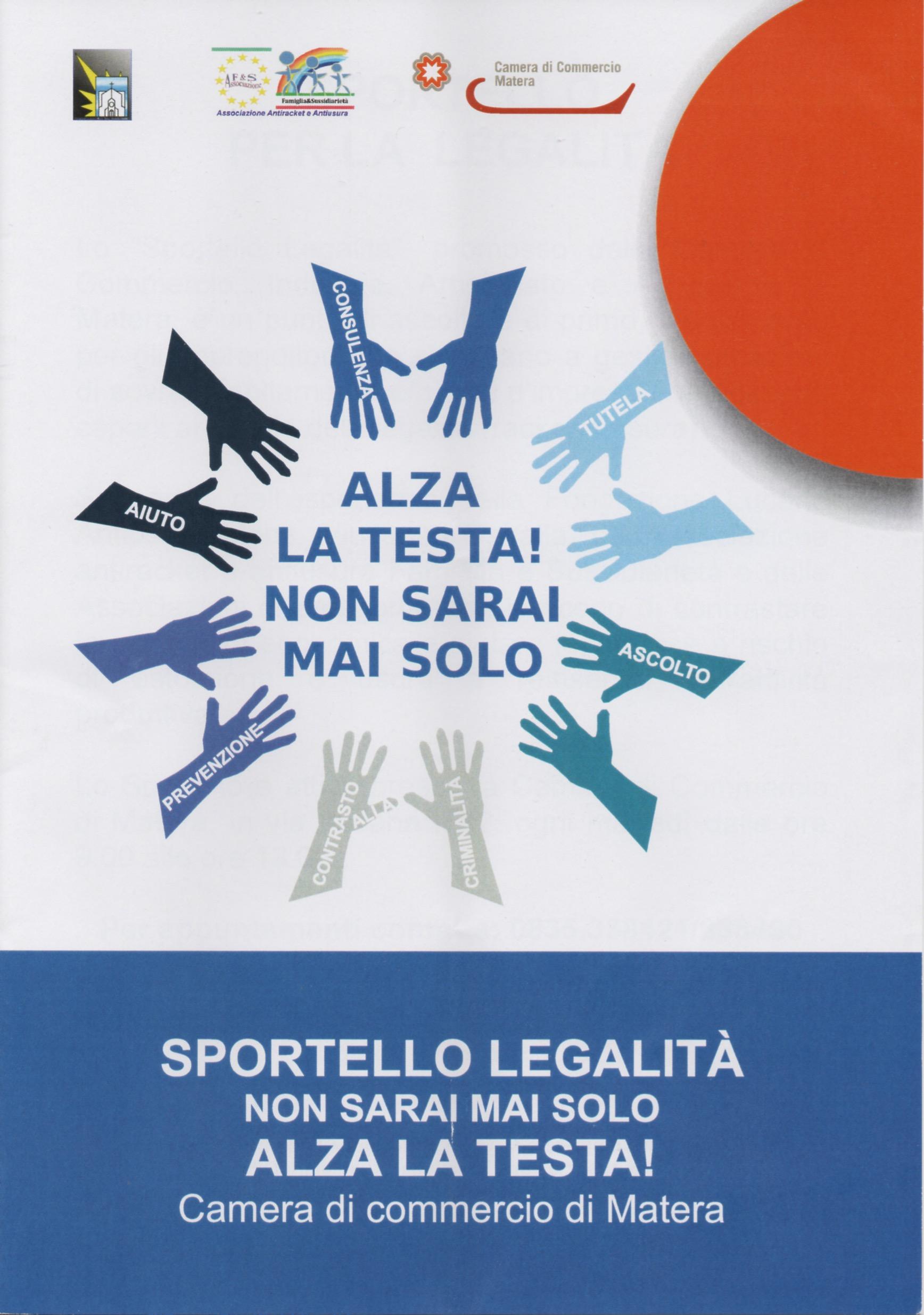 """Manifesto dello """"Sportello Legalità"""""""