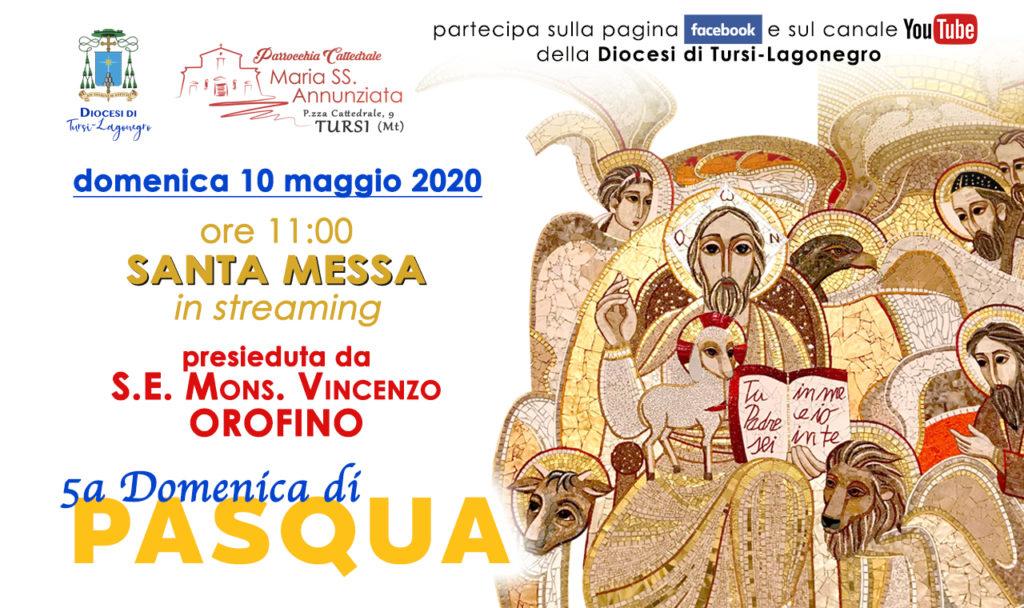 Domenica 10 maggio, alle ore 11 (collegamento on line dalle 10,45), mons. Vincenzo Orofino, vescovo della diocesi di Tursi-Lagonegro, presiede la santa messa in diretta dalla Cattedrale di Tursi